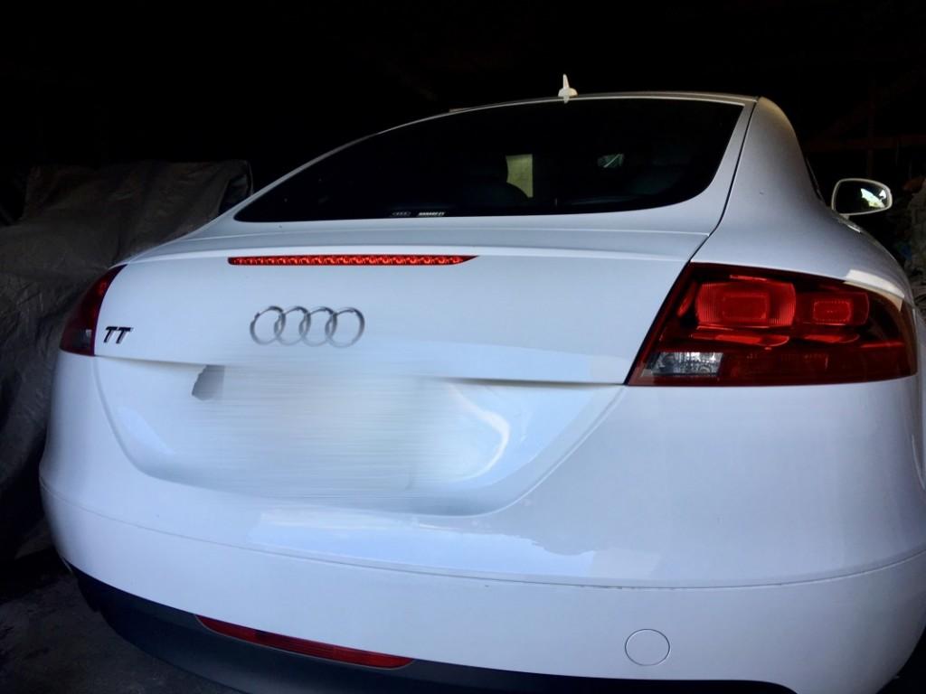 Audiの鍵をなくした。 Audi Tt 紛失キーの作製 イモビライザー・紛失キー・スマートキー専門の鍵屋です。
